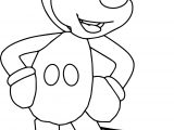 Ready Cartoon Character Mickey Coloring Page