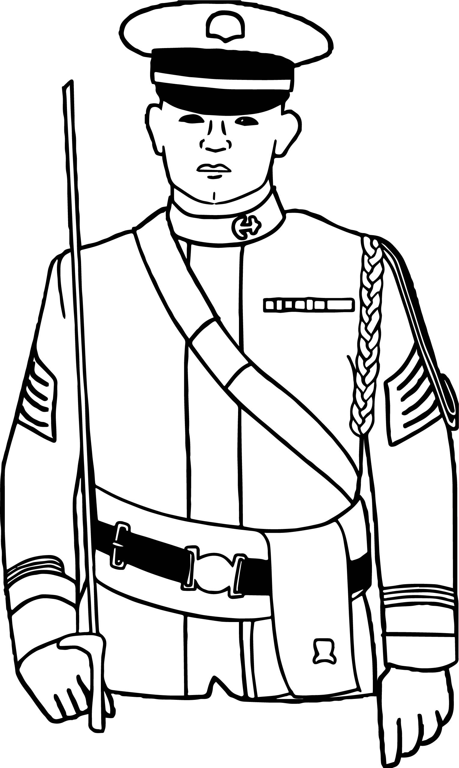 sailor soldier coloring page - Soldier Coloring Pages