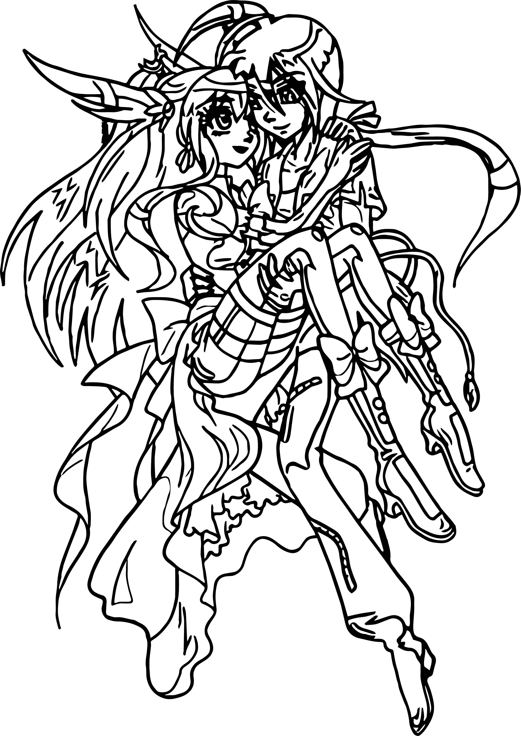 shun and human skyress bakugan girls and boys coloring page - Boys Coloring Pictures