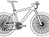 Side Bike Biycle Coloring Page