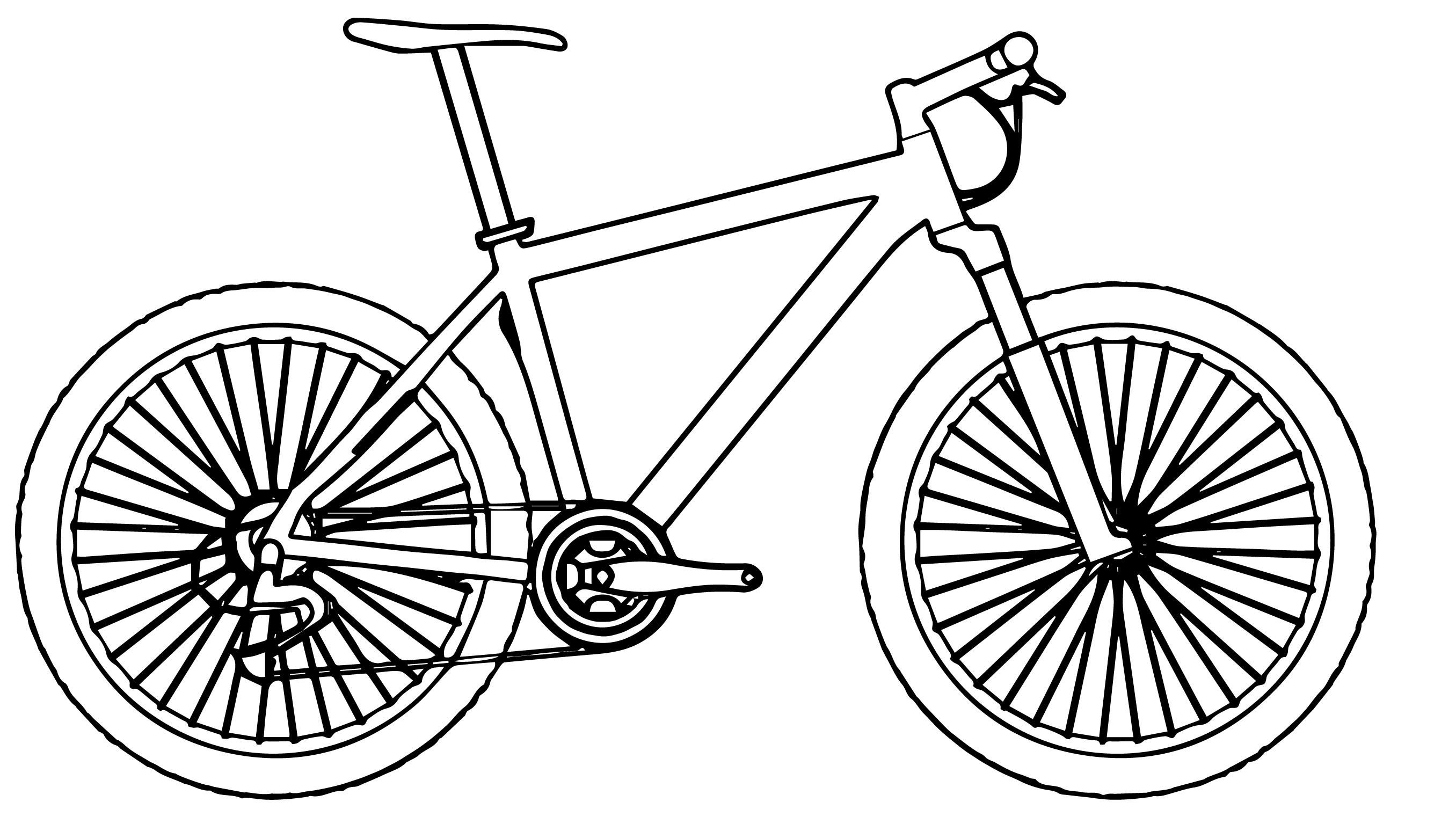 Side Bike Biycle Coloring Page