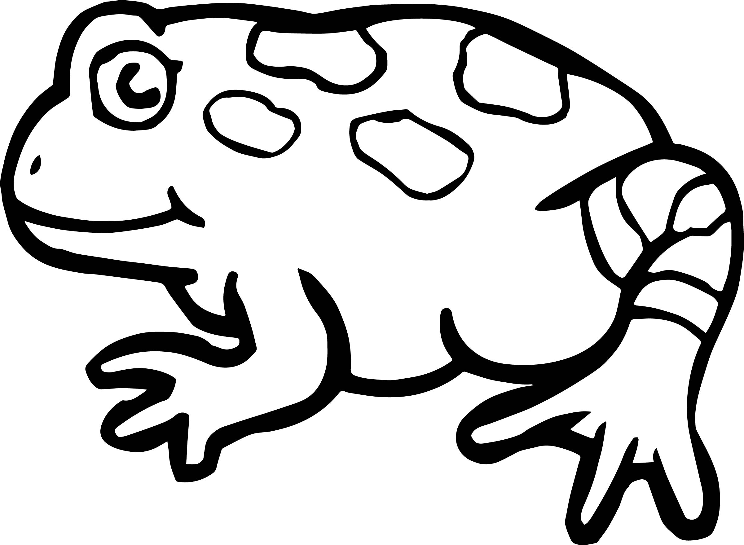 Side Frog Coloring Page