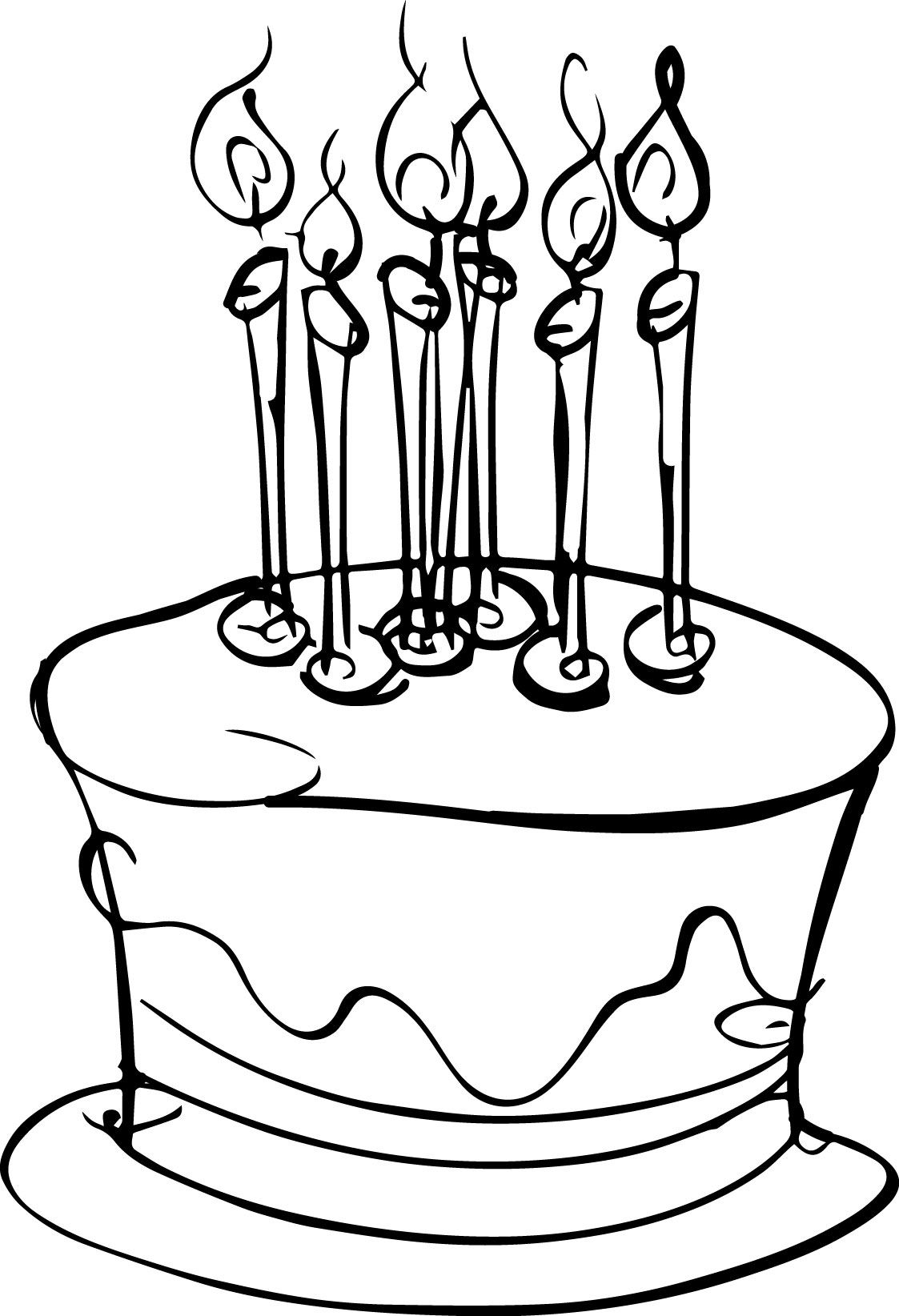 Small Birthday Cake Coloring Page | Wecoloringpage.com