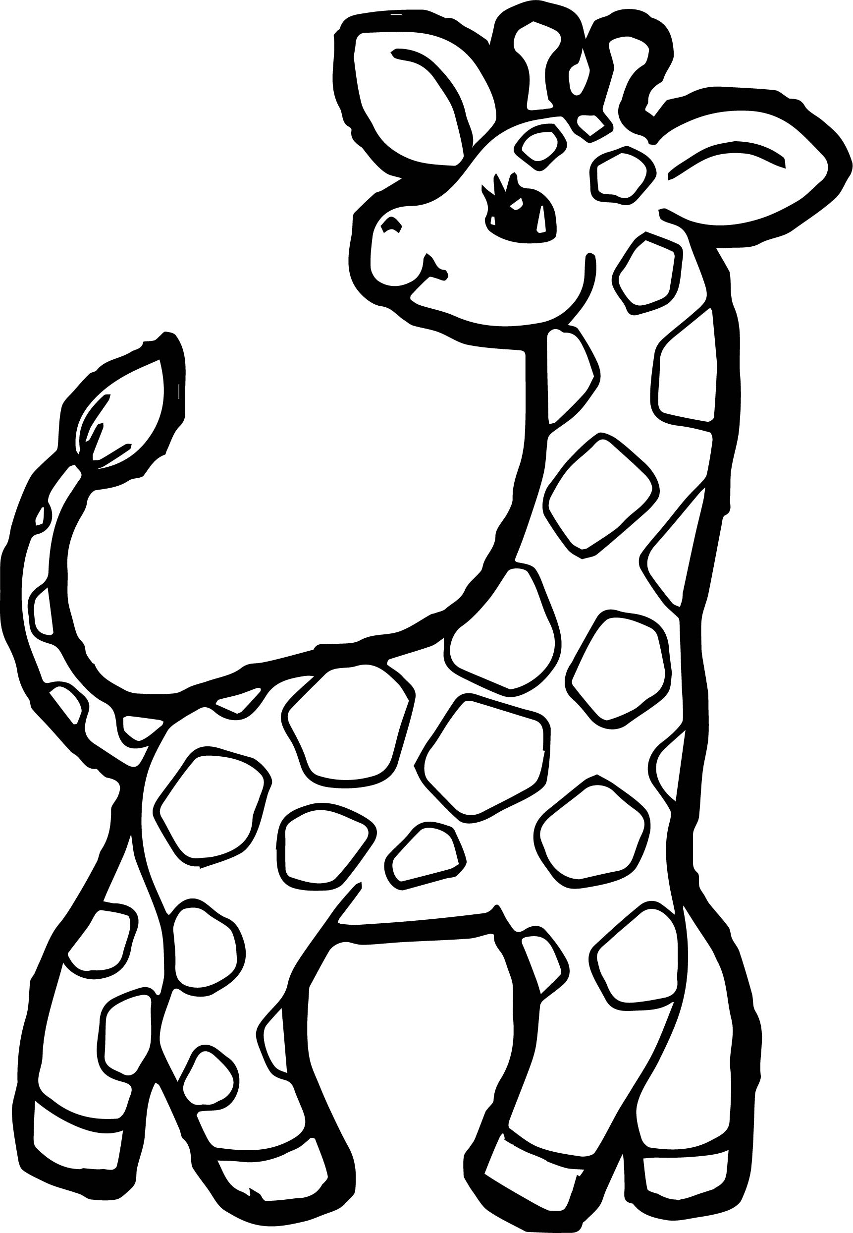 Small giraffe coloring page