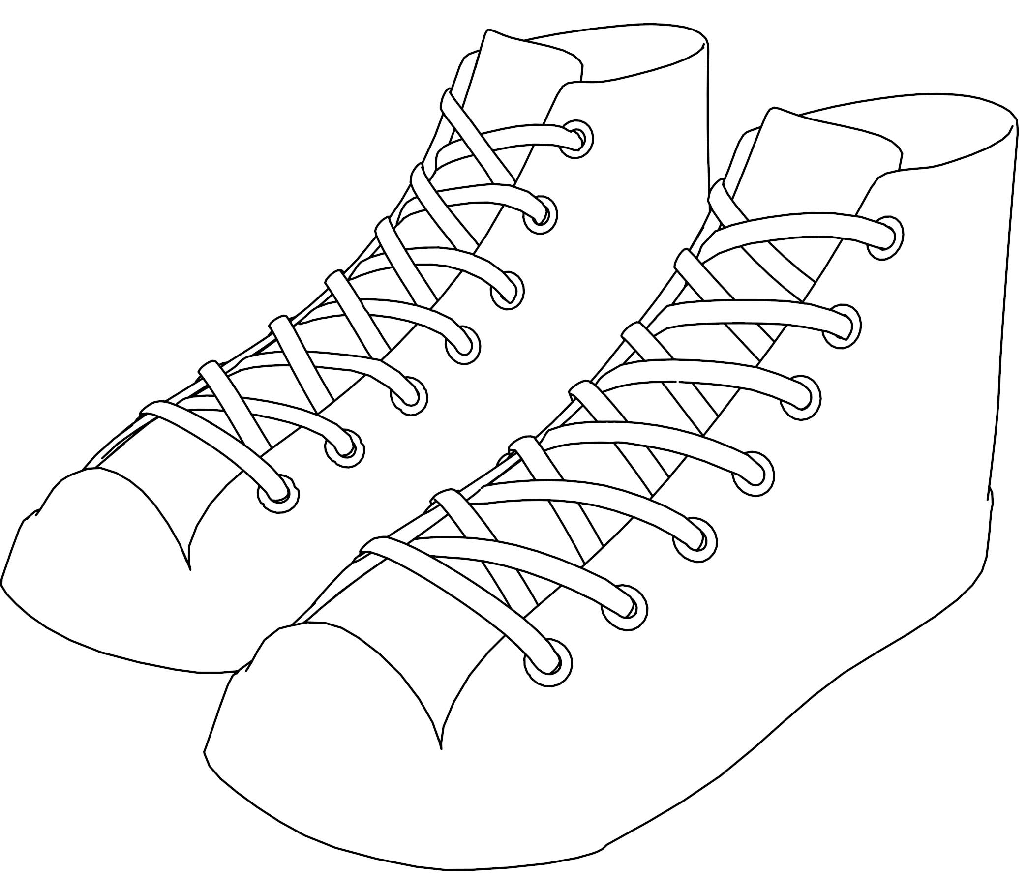 Sneakers Converse Shoes Coloring Page