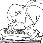 Snow White And The Prince Kissing Coloring Page
