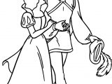 Snow White And The Prince Walking Coloring Pages