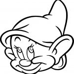 Snow White Disney Dopey Face Coloring Page