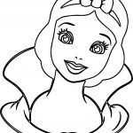 Snow White Front View Coloring Page