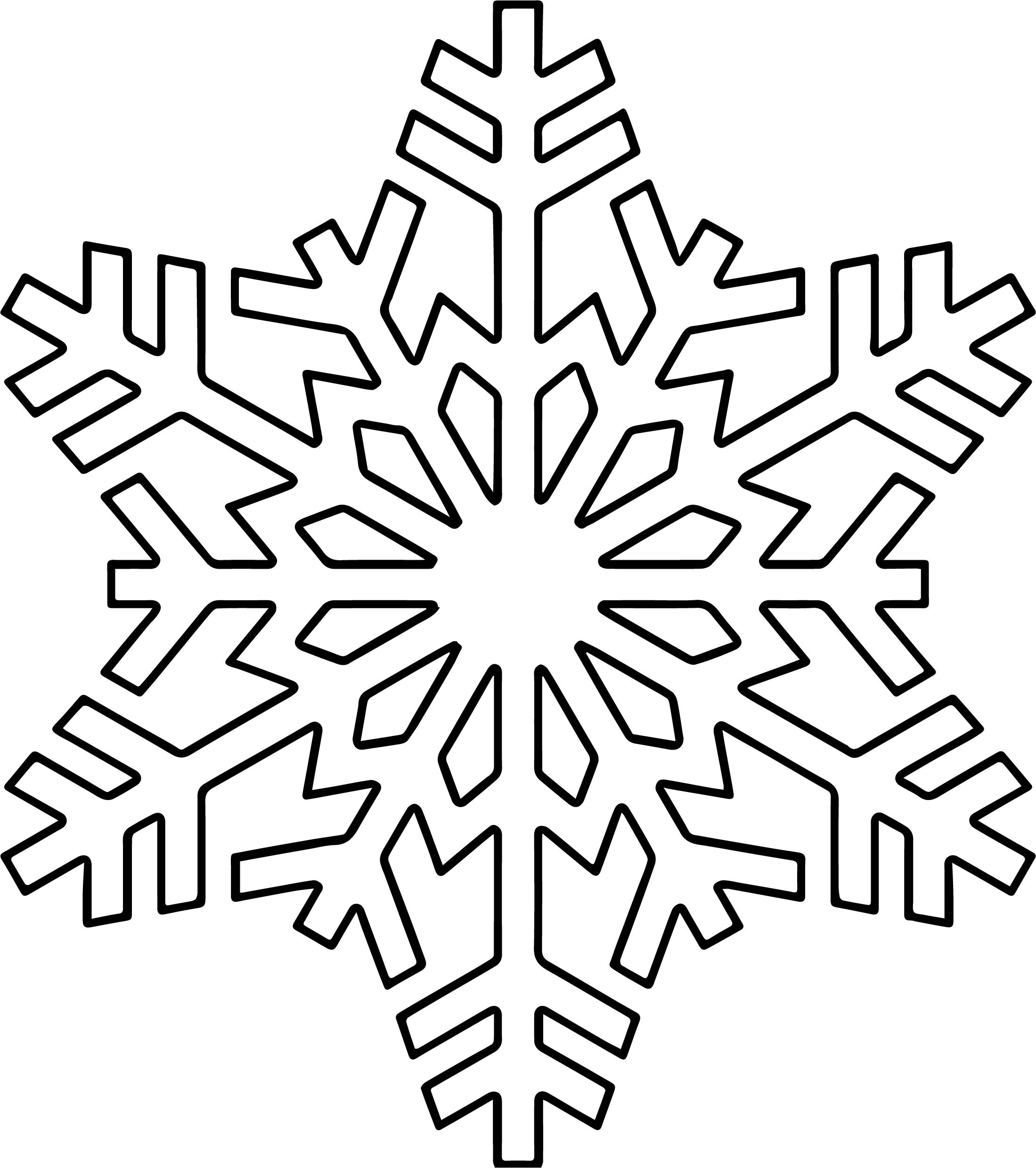 Snowflake one coloring page for Snowflake coloring pages printable