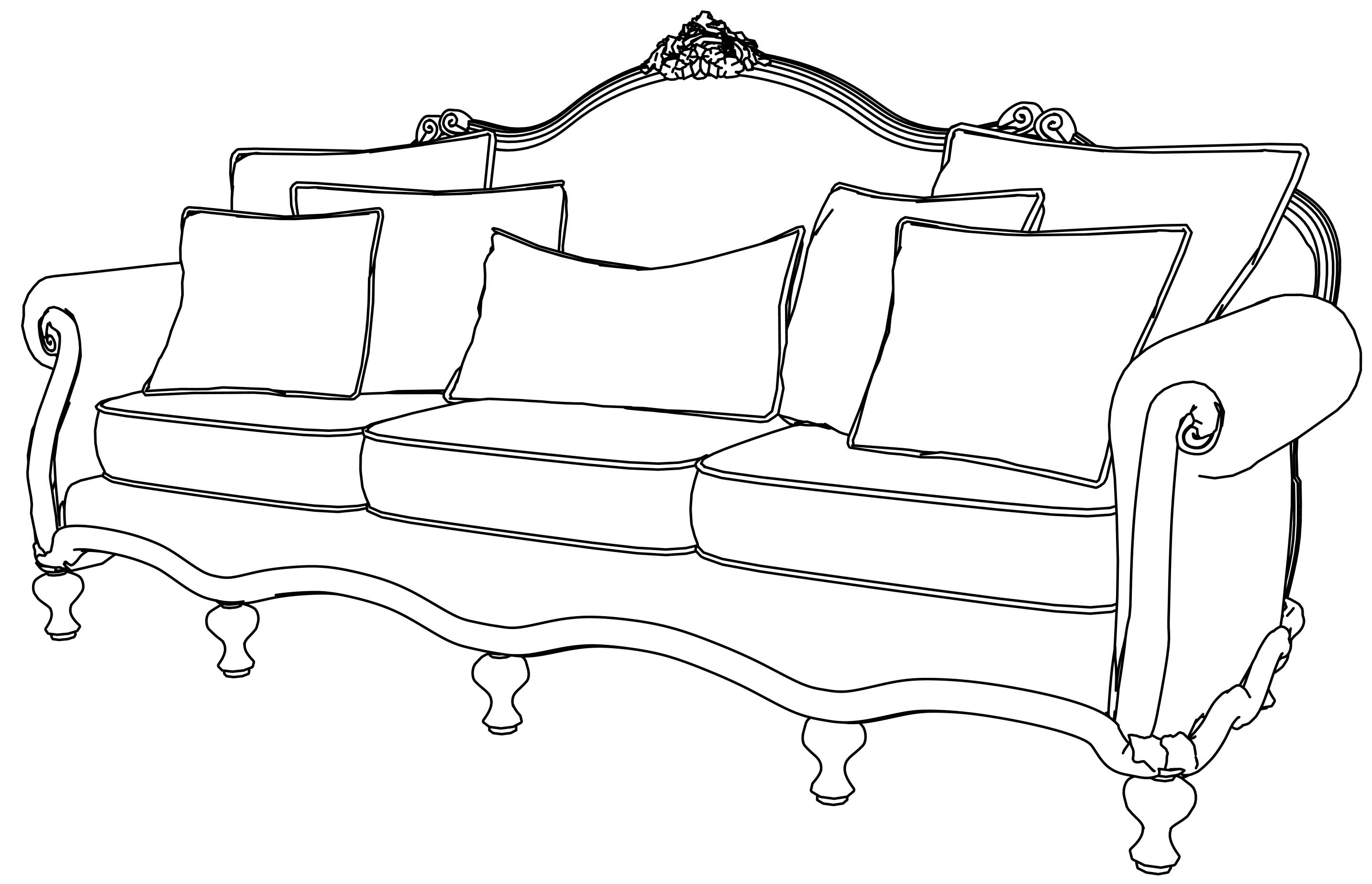 sofa coloring pages - sofa gallery coloring page