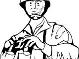 Soldier Commander Binoculars Coloring Page