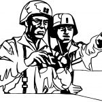 Soldier See The Command Coloring Page