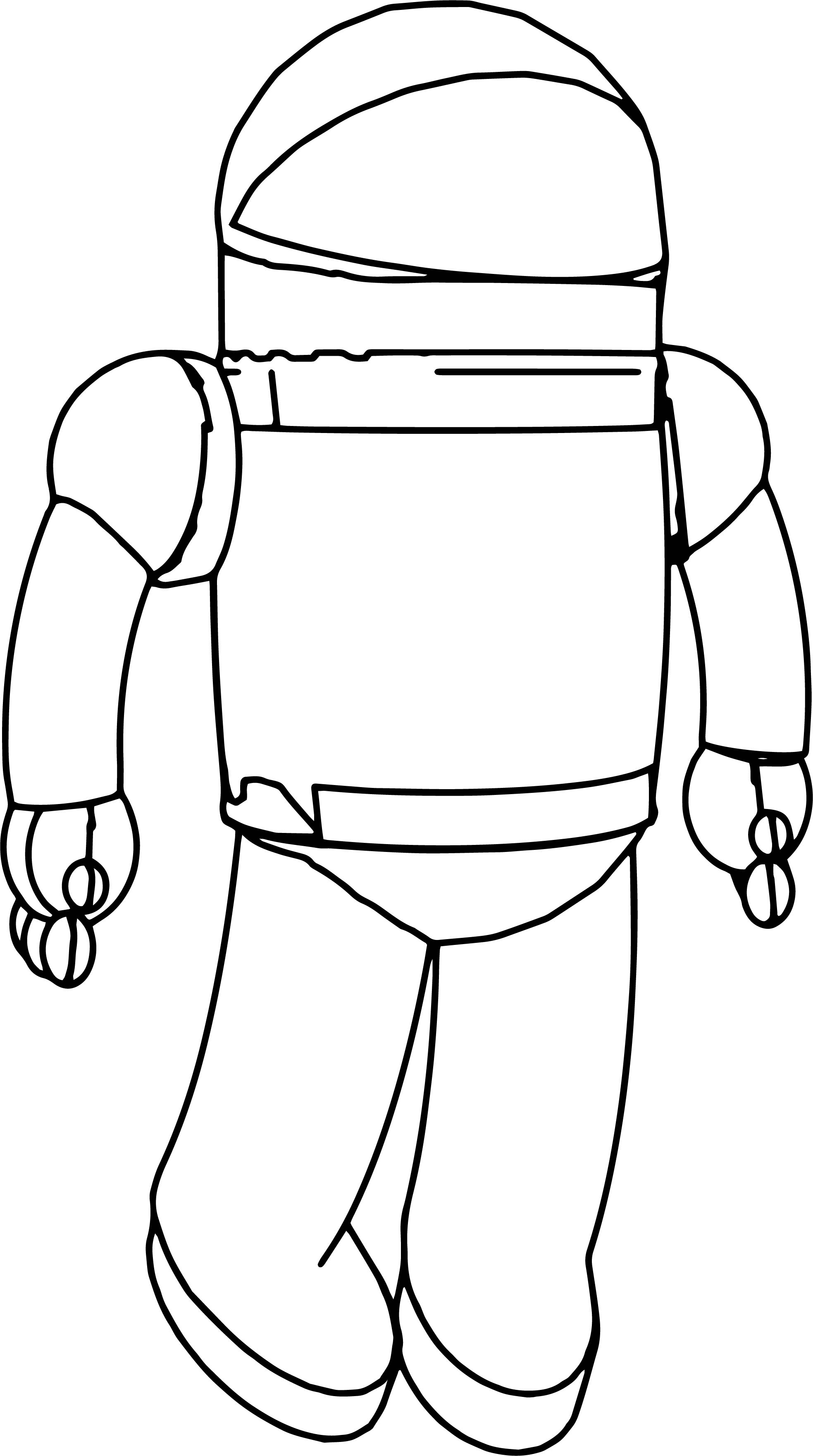 spaceman cartoon coloring page