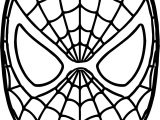 Spider Man Mask Coloring Page