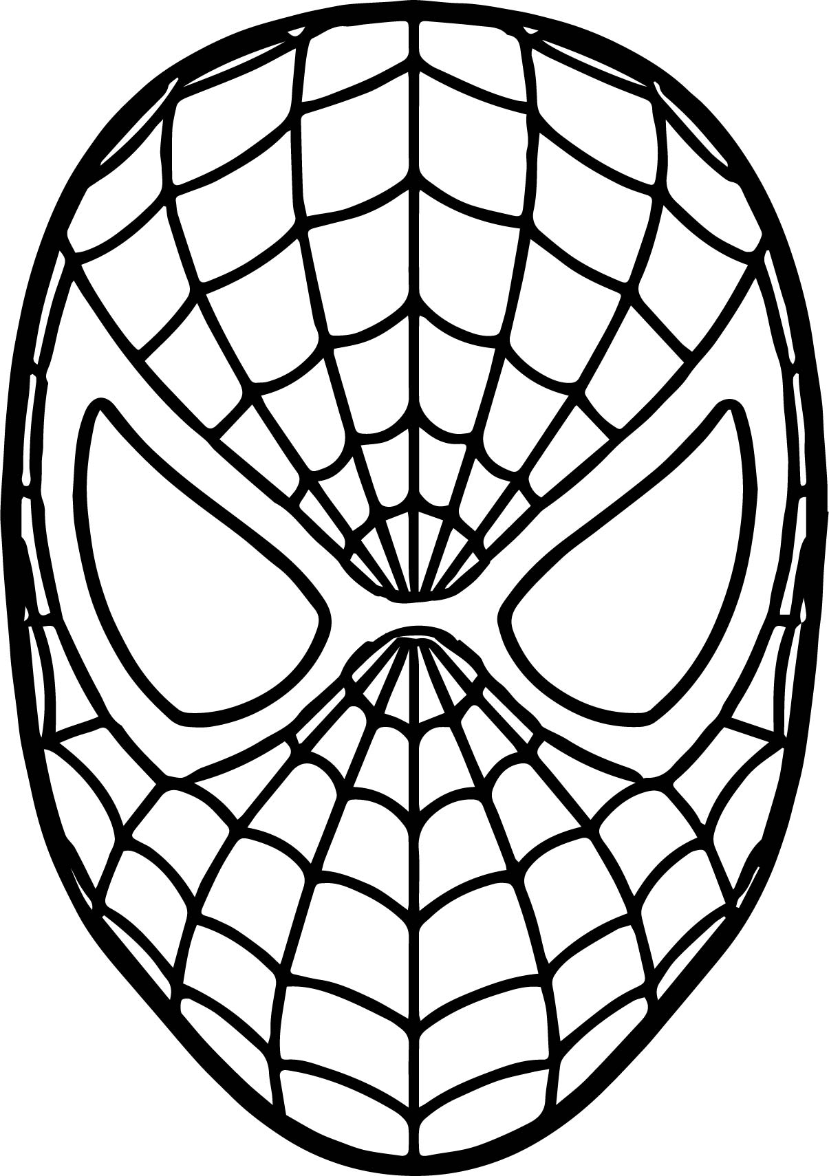 It's just an image of Eloquent Spiderman Mask Printable