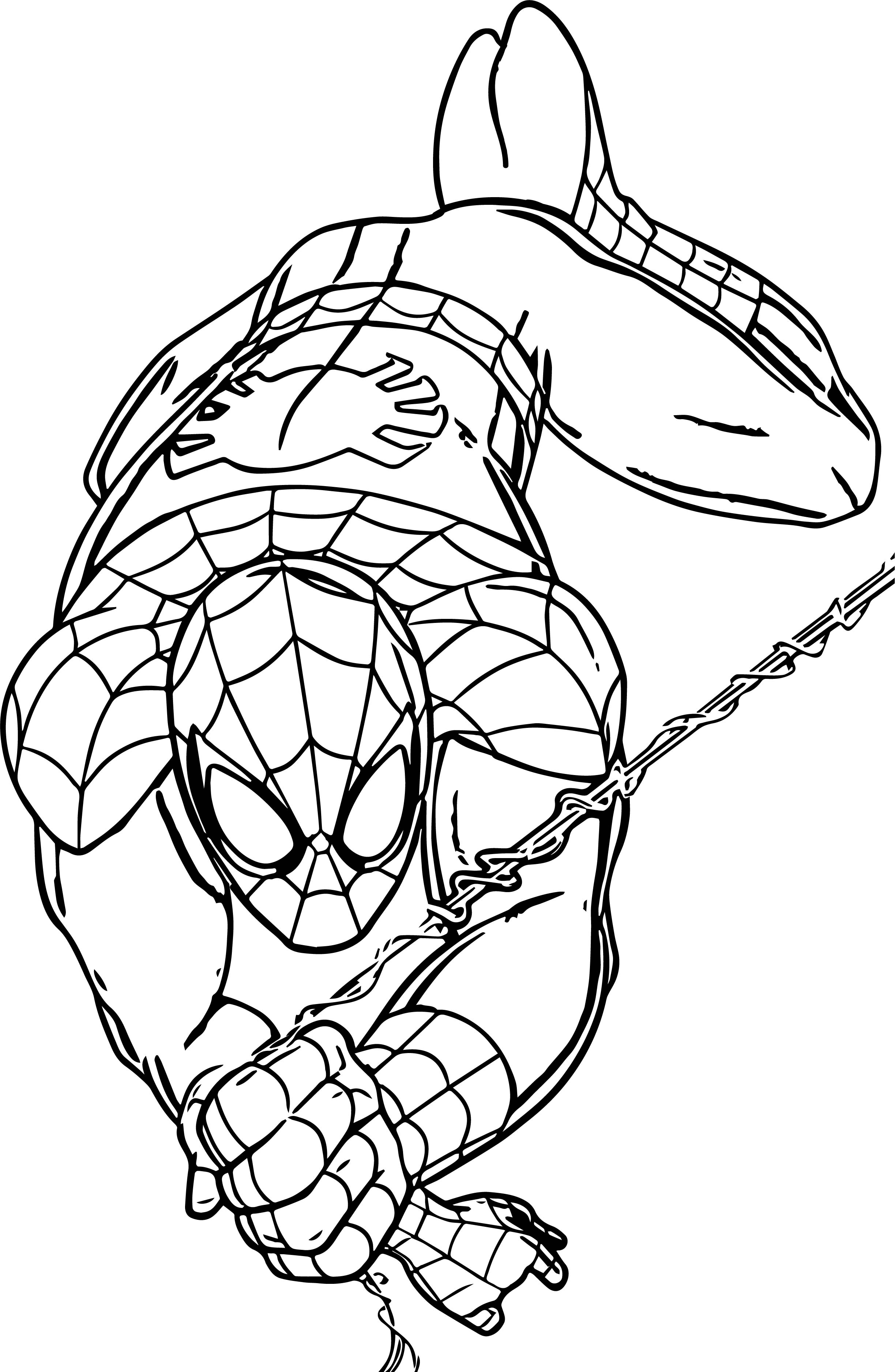 Spider Man Rope Coloring Page