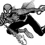 Spiderman Cartoon HD Spider Man Coloring Page