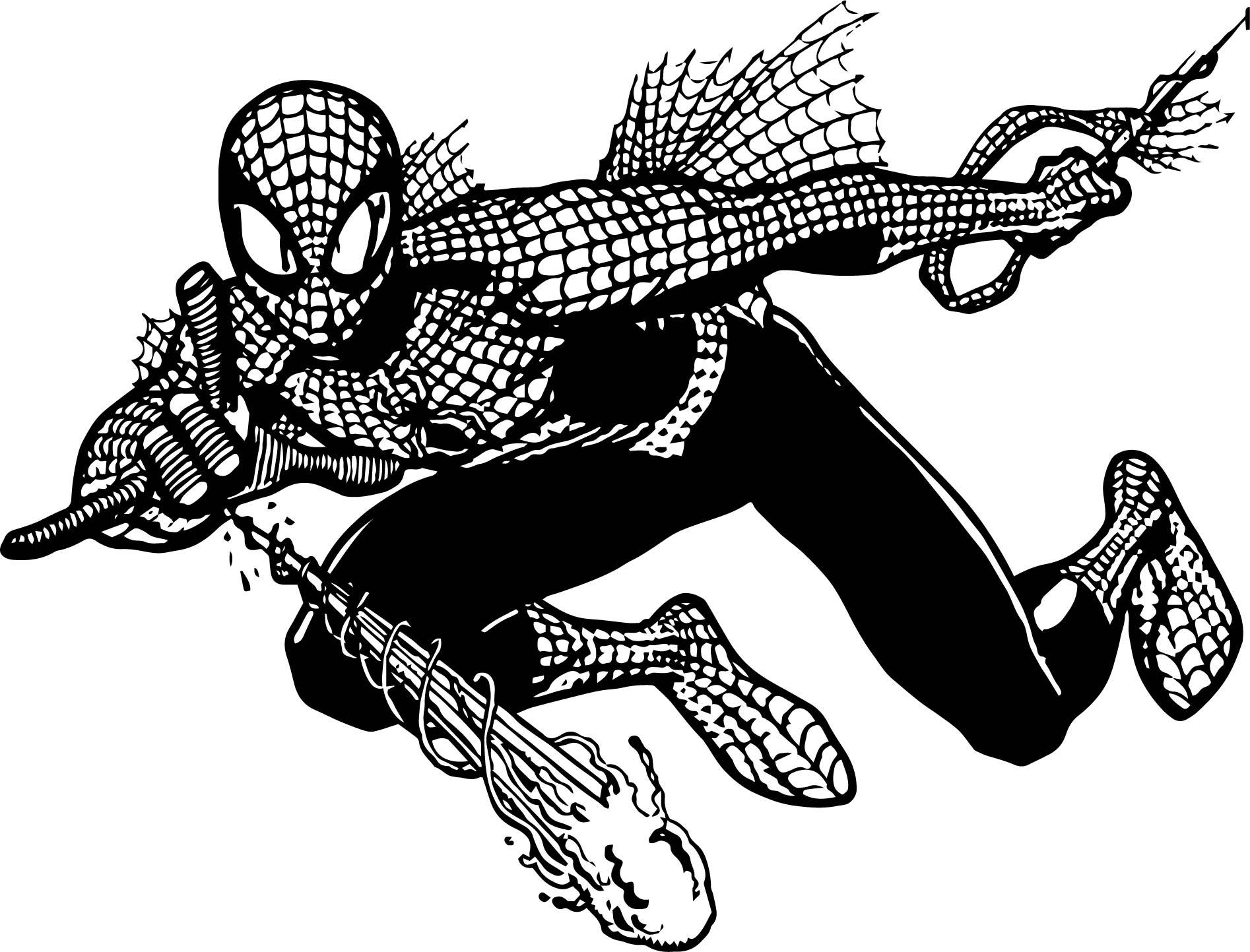 Barcelona Vs Manchester City Logo: Spiderman Cartoon HD Spider Man Coloring Page