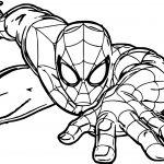 Spiderman Crawl Spider Man Coloring Page