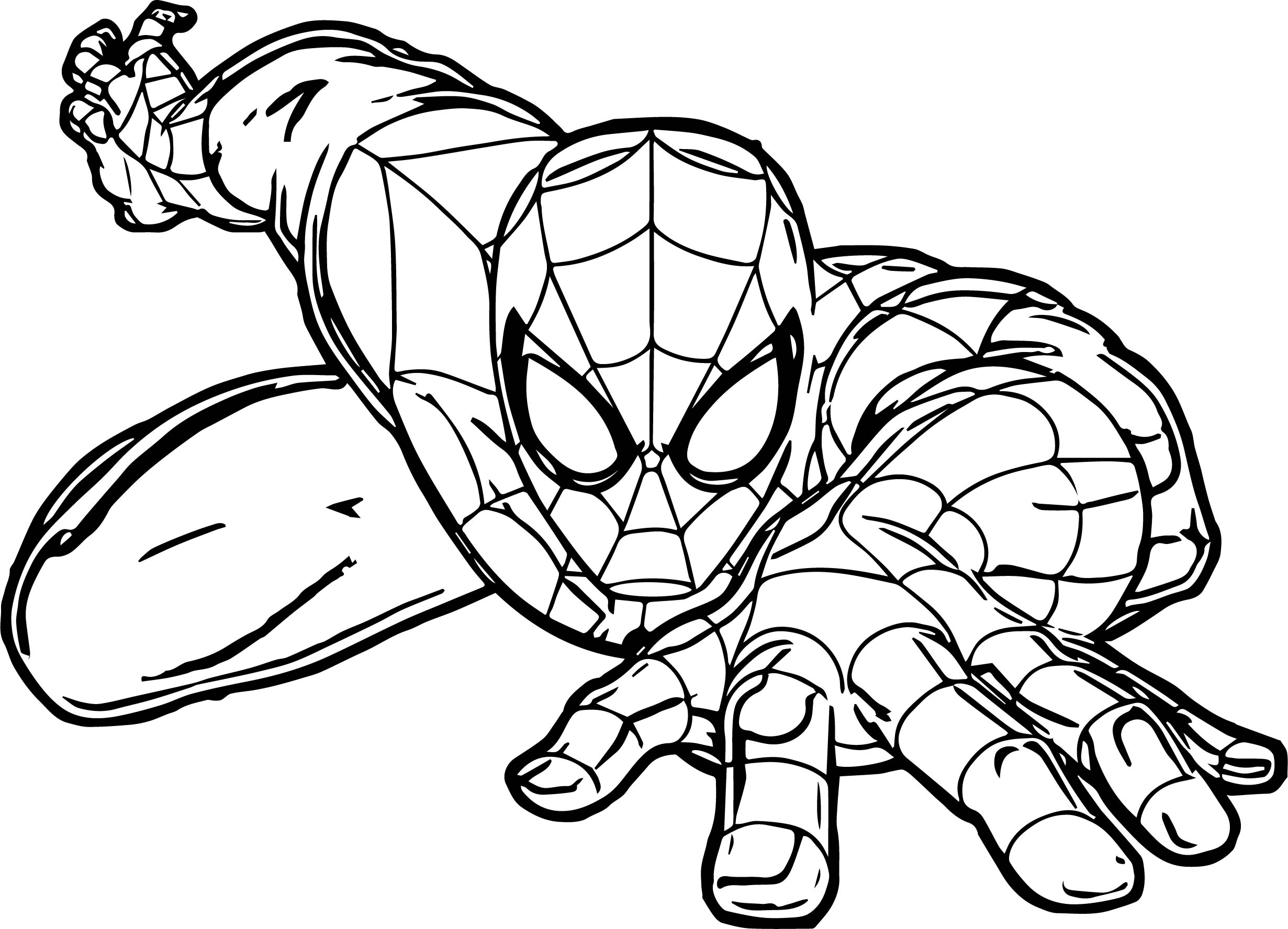 Spiderman Crawl Spider Man Coloring Page | Wecoloringpage.com