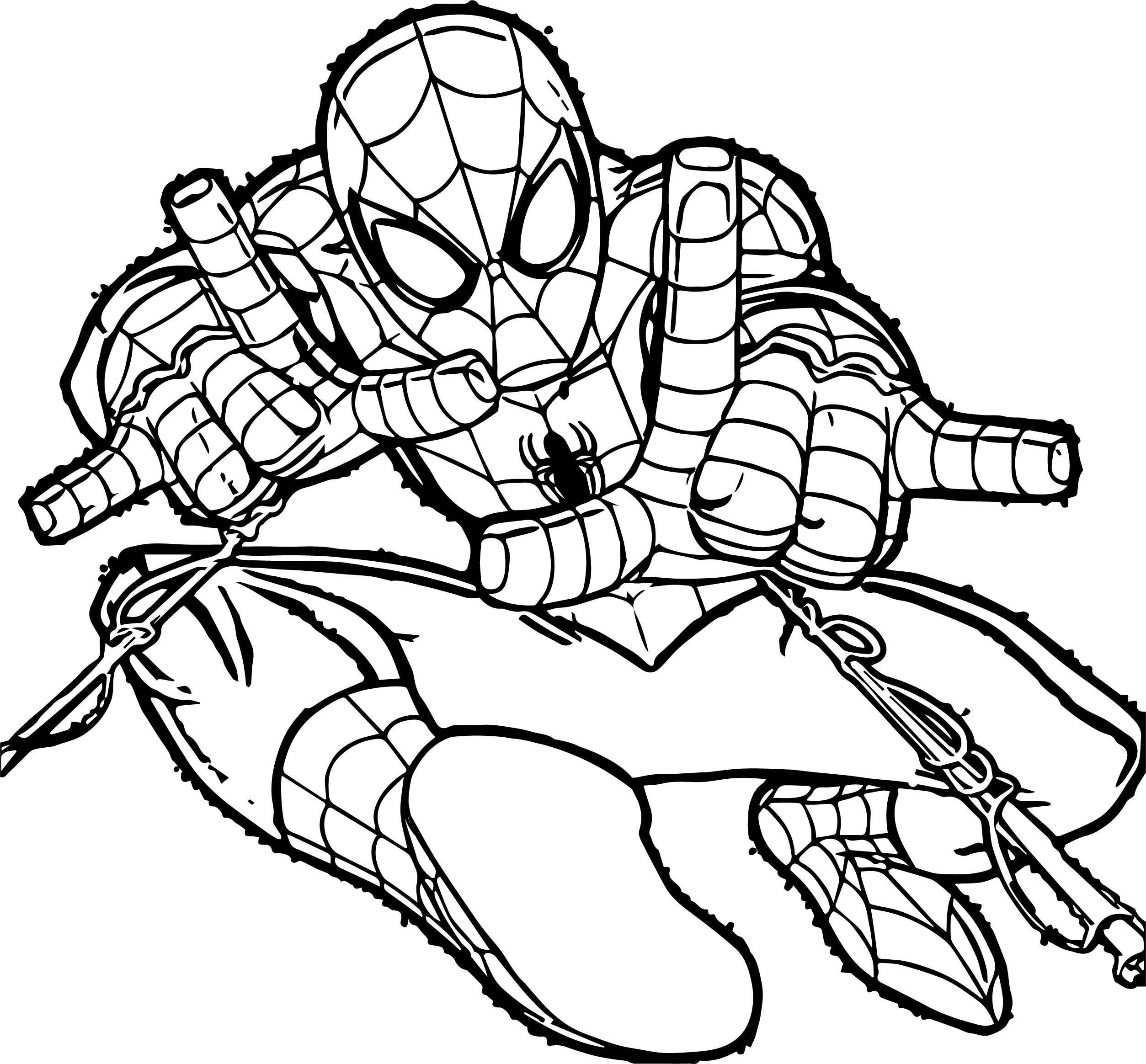 spider man color page - spiderman doublesling spider man coloring page