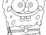 Sponge Bob Cartoon Coloring Page