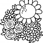 Spring Break Spring Flower Coloring Page