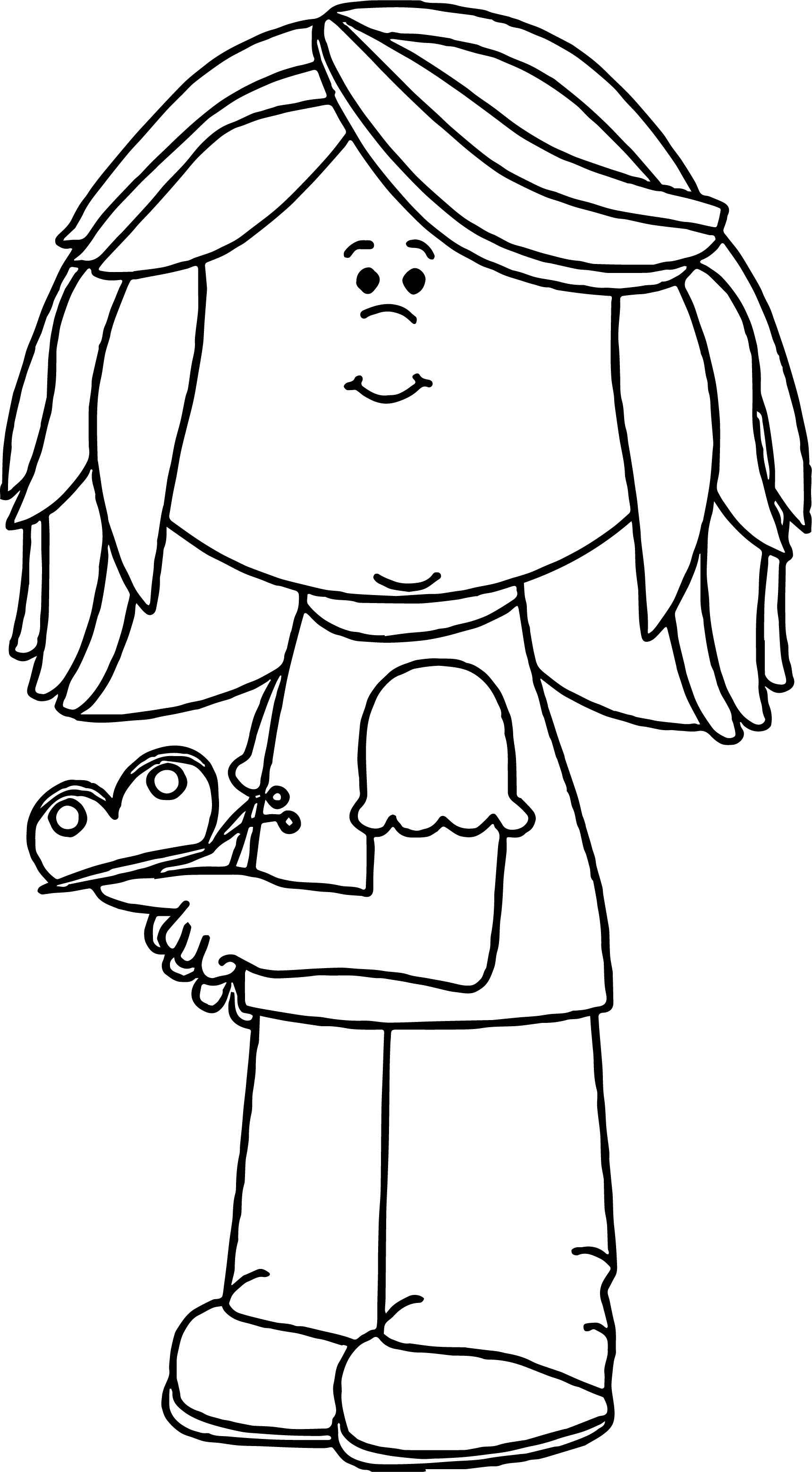 Spring Girl Coloring Page