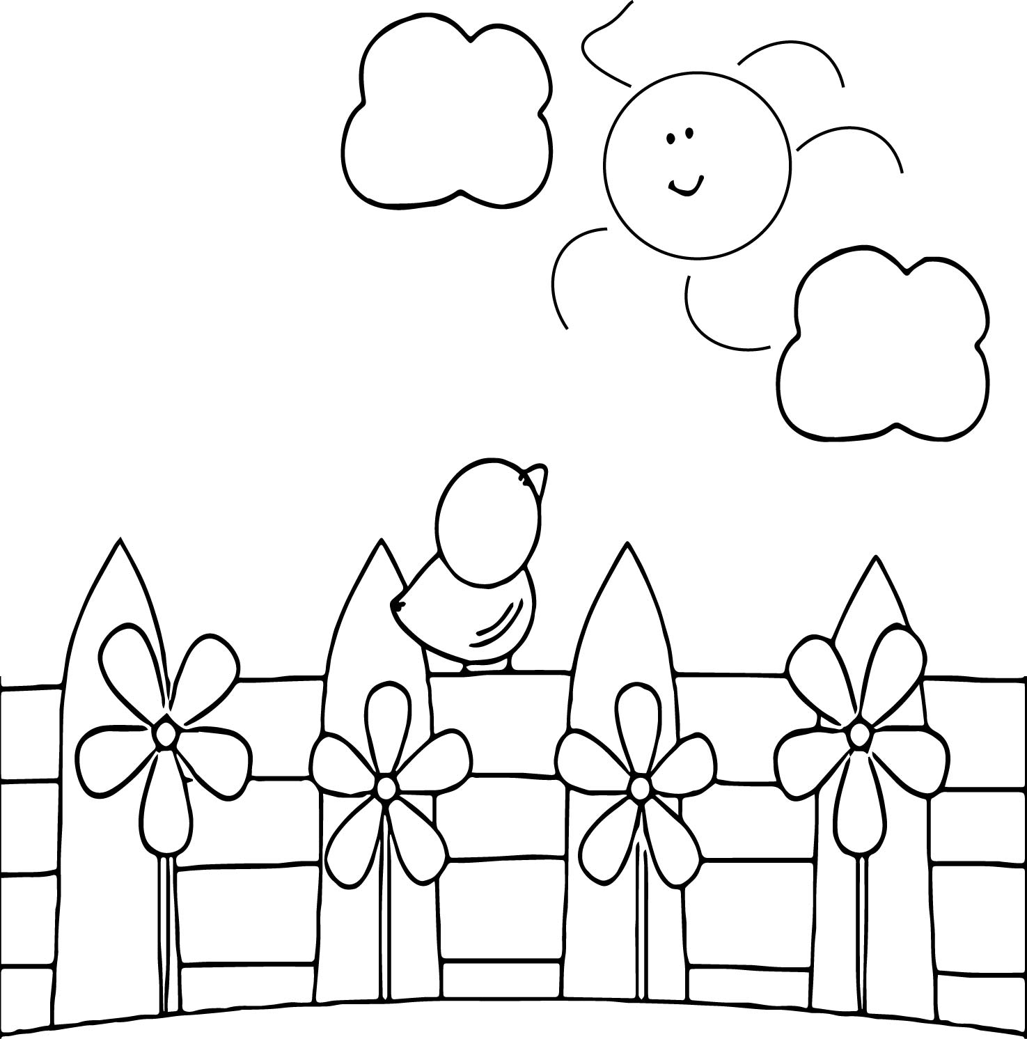 Spring Morning Coloring Page | Wecoloringpage.com