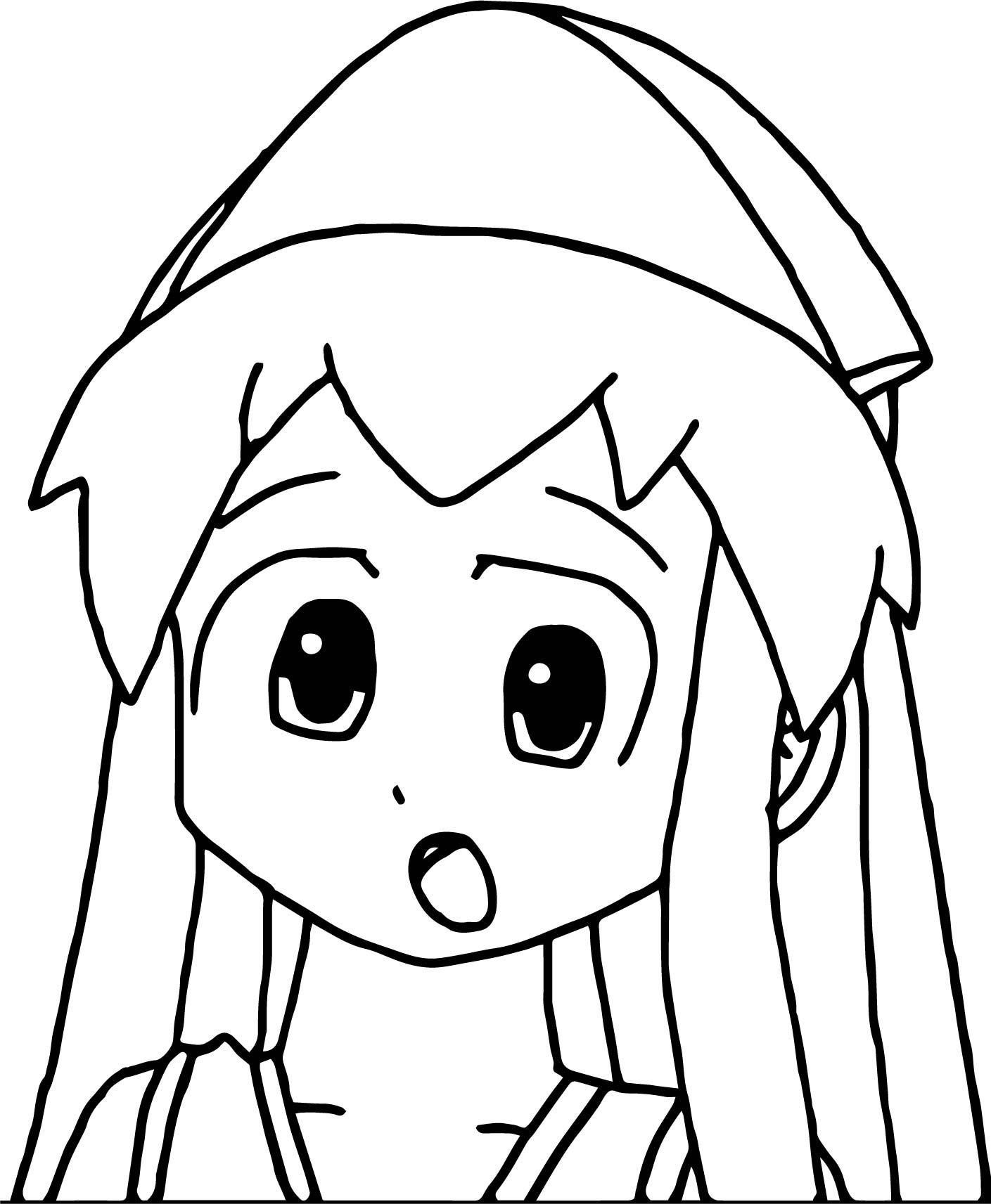 Squid Girl Shock Coloring Page