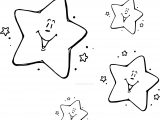 Star Very Cute Night Stars Coloring Page