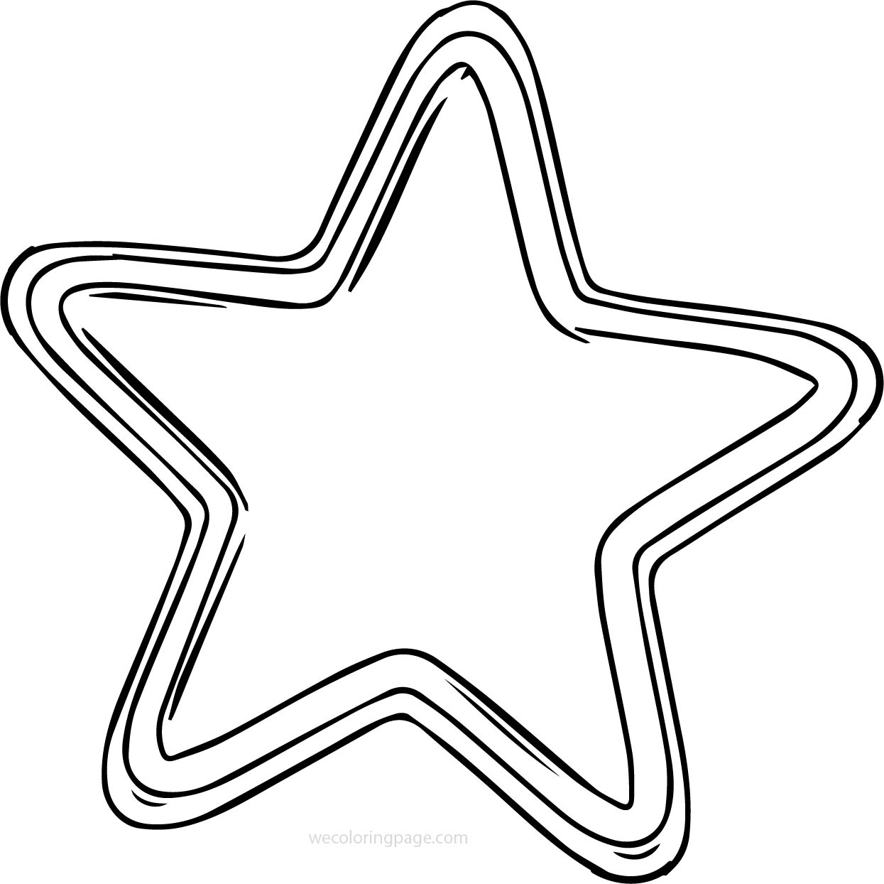 Style Star Coloring Page