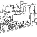 T2 71 Steam Locomotive Coloring Page