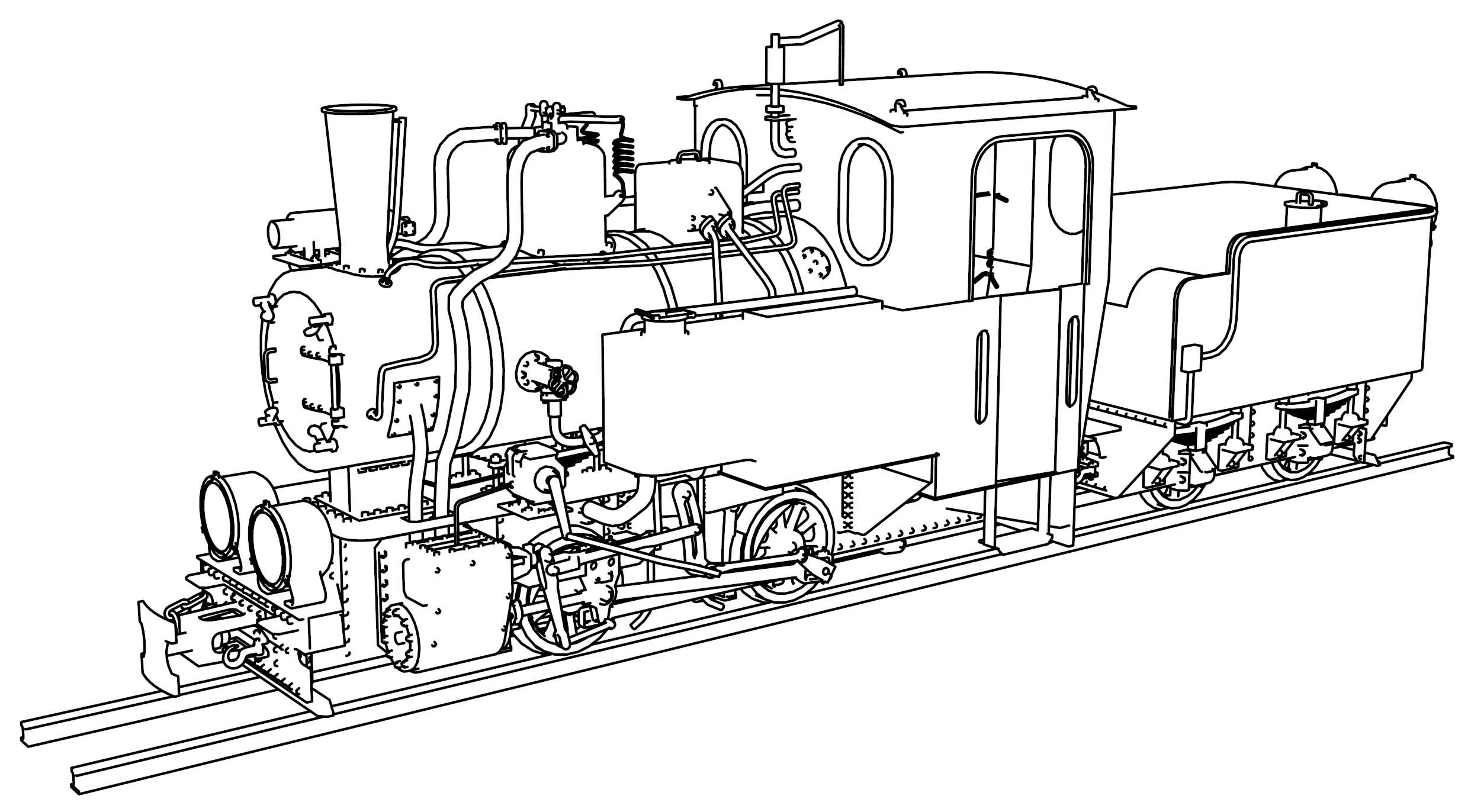 steam engine coloring pages - t2 71 steam locomotive coloring page