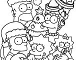 The Simpsons Wallpaper Christmas Coloring Page