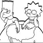 The Simpsons World Play Coloring Page