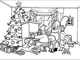 The Simpsons Xmas Coloring Page