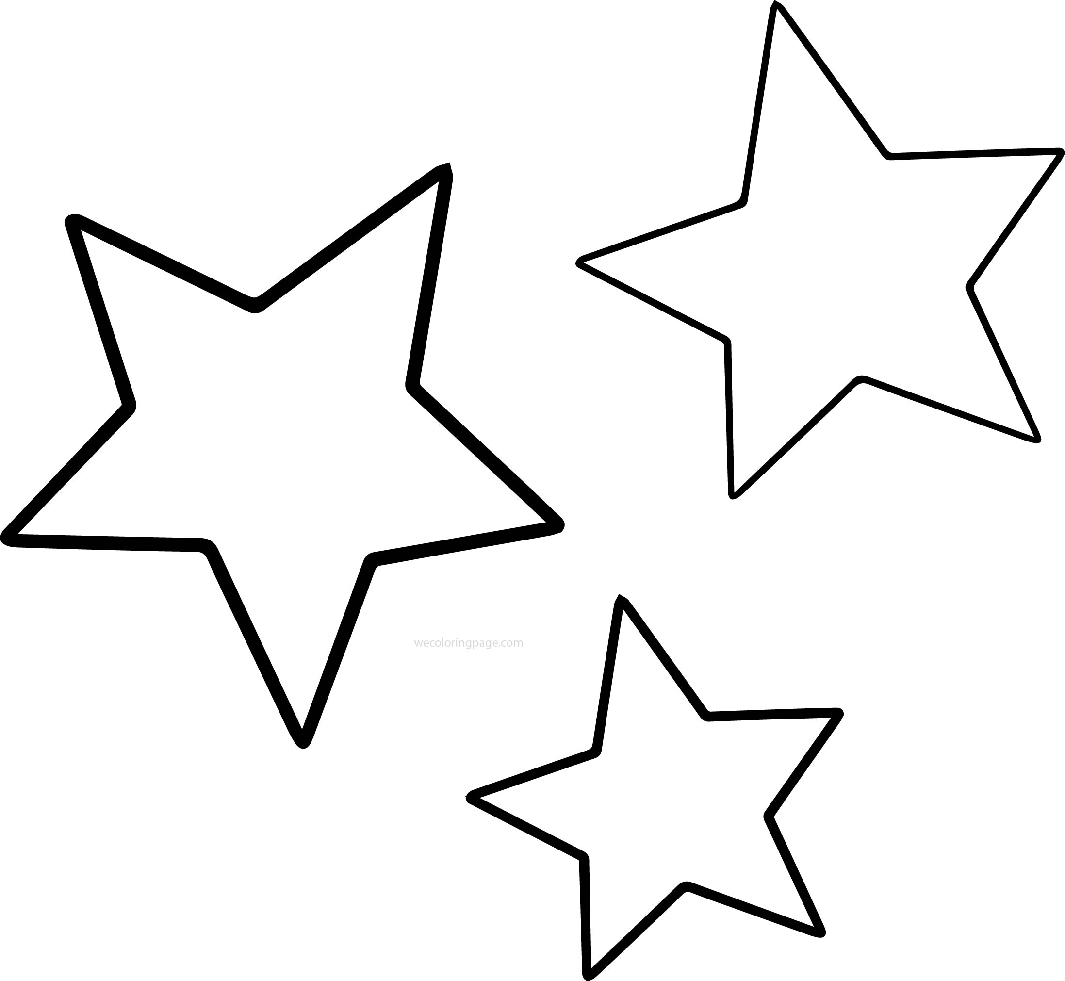 three star coloring pages - Star Coloring Pages