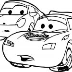 Two Car Disney Cars Coloring Page