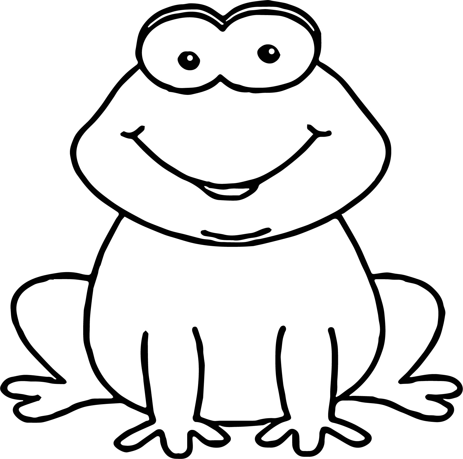 Wait Frog Coloring Page