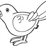 Waiting Bird Coloring Page