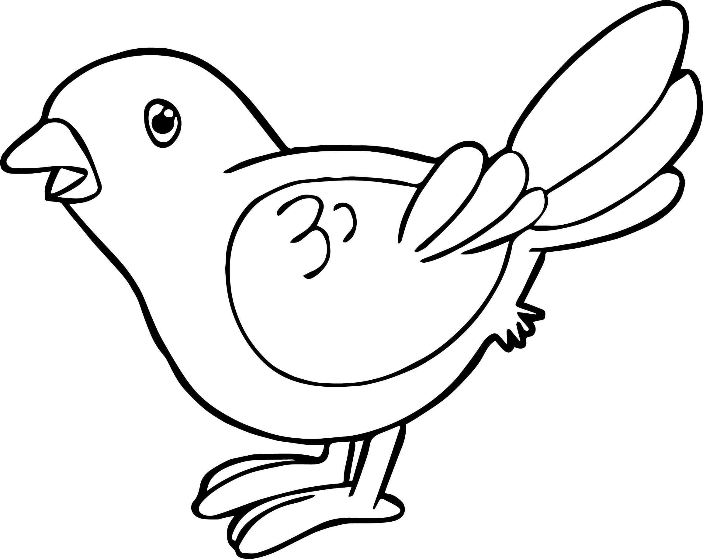 Bird Coloring Page Waiting Bird Coloring Page  Wecoloringpage