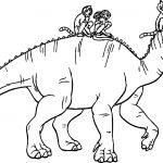 Walking Disney Dinosaur Coloring Pages