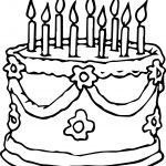 Wedding Birthday Cake Coloring Page