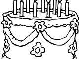 Wedding Birthday Cake Coloring Page