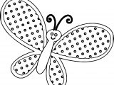 Yellow Butterfly Dotting Coloring Page