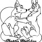 Yuki S Happy Balto Wolf Birthday Coloring Page