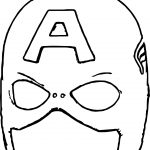 A Mask Captain Coloring Page