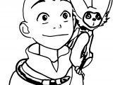 Aang And Momo Ynnck Decmk Avatar Aang Coloring Page